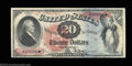 Large Size:Legal Tender Notes, Fr. 127 $20 1869 Legal Tender Choice Extremely Fine. We've ...