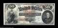 Large Size:Legal Tender Notes, Fr. 151 $50 1869 Legal Tender Very Fine. This note was ...