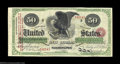 Large Size:Interest Bearing Notes, Fr. 212d $50 1865 Interest Bearing Note Very Fine-Extremely ...