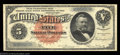 Large Size:Silver Certificates, Fr. 261 $5 1886 Silver Certificate Extremely Fine. A very ...