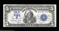 Large Size:Silver Certificates, Fr. 281 $5 1899 Silver Certificate Gem New. Beautifully ...