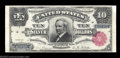 Large Size:Silver Certificates, Fr. 298 $10 1891 Silver Certificate Choice Extremely Fine. ...