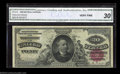 Large Size:Silver Certificates, Fr. 316 $20 1886 Silver Certificate CGA Very Fine 30. A ...