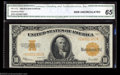 Large Size:Gold Certificates, Fr. 1173 $10 1922 Gold Certificate CGA Gem Uncirculated 65.
