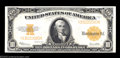 Large Size:Gold Certificates, Fr. 1173 $10 1922 Gold Certificate Gem New. Razor sharp ...