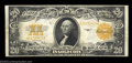 Large Size:Gold Certificates, Fr. 1187 $20 1922 Gold Certificate Very Fine. An ideal ...