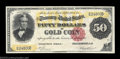 Large Size:Gold Certificates, Fr. 1195 $50 1882 Gold Certificate Choice Extremely Fine. ...