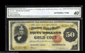 Large Size:Gold Certificates, Fr. 1197 $50 1882 Gold Certificate CGA Extremely Fine 40. ...