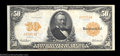 Large Size:Gold Certificates, Fr. 1198 $50 1913 Gold Certificate Choice Very Fine. But ...