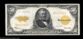 Large Size:Gold Certificates, Fr. 1200 $50 1922 Gold Certificate About New. A broadly ...