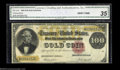 Large Size:Gold Certificates, Fr. 1214 $100 1882 Gold Certificate CGA Very Fine 35. The ...