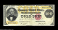 Large Size:Gold Certificates, Fr. 1214 $100 1882 Gold Certificate Very Fine. Closely ...