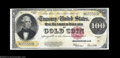 Large Size:Gold Certificates, Fr. 1215 $100 1922 Gold Certificate Choice New. A near-Gem ...
