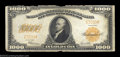 Large Size:Gold Certificates, Fr. 1220 $1,000 1922 Gold Certificate Very Fine Damaged. A ...