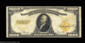 Large Size:Gold Certificates, Fr. 1220 $1000 1922 Gold Certificate Very Good-Fine. For ...