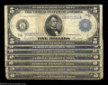 Large Size:Group Lots, A Group of Five Dollar Feds. Fr. 850, Fr. 869 (three), Fr. ... (7 notes)