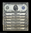 Large Size:Group Lots, Seven Federal Reserve Notes. Fr. 888 Extremely Fine, ... (7 notes)
