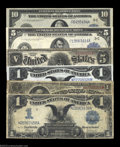 Large Size:Group Lots, A Mixed Large Type Grouping. Fr. 91 problem-free Fine, ... (6 notes)