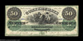 Confederate Notes:1861 Issues, T4 $50 1861. The lowest denomination of the four ...