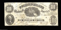 Confederate Notes:1861 Issues, T7 $100 1861. Very Fine in appearance, but with ...