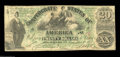 Confederate Notes:1861 Issues, T17 $20 1861. A nice colorful T17 with great eye appeal ...