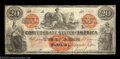 Confederate Notes:1861 Issues, T19 $20 1861. Like the T15 above, this is a beautiful red ...