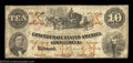 Confederate Notes:1861 Issues, T23 $10 1861. This popular type features a vignette of a ...
