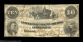 Confederate Notes:1861 Issues, T23 $10 1861. Although there is a little minor soiling ...