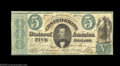 Confederate Notes:1861 Issues, T33 $5 1861. A problem-free example that is trimmed rather ...