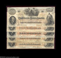 Confederate Notes:1862 Issues, Group of T41 $100s. This nice group includes several ... (5 notes)