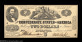 Confederate Notes:1862 Issues, T42 $2 1862. A perfectly centered example of the first $2 ...