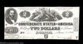 Confederate Notes:1862 Issues, T42 $2 1862. A gorgeous, well-centered Judah Benjamin ...