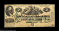 Confederate Notes:1862 Issues, T43 $2 1862. Although not the equal of the Extremely Fine ...