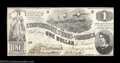 Confederate Notes:1862 Issues, T44 $1 1862. Very well centered for this type that was ...