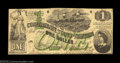 Confederate Notes:1862 Issues, T45 $1 1862. Like the T43 $2, the 1862 $1 Lucy Pickens ...