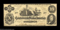 Confederate Notes:1862 Issues, T46 $10 1862. Although printed in 1861, this type was ...