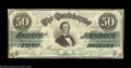 Confederate Notes:1862 Issues, T50 $50 1862. This pretty Jeff Davis $50 is problem-free ...