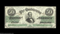 Confederate Notes:1862 Issues, T50 $50 1862. Pretty and problem-free, with a vivid green ...