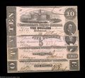 Confederate Notes:1862 Issues, 1862 CSA Quartet. This group, including a T52 $10, T53 $5, ... (4notes)