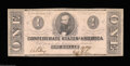 Confederate Notes:1862 Issues, T55 $1 1862. Crisp Uncirculated, fully new with ...