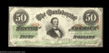 Confederate Notes:1863 Issues, T57 $50 1863. A very nice, well margined Jeff Davis Fifty ...