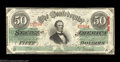 Confederate Notes:1863 Issues, T57 $50 1863. Well centered Choice About Uncirculated, ...