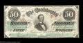 Confederate Notes:1863 Issues, T57 $50 1863. A boldly embossed Extremely Fine-About ...