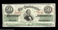 Confederate Notes:1863 Issues, T57 $50 1863. A nice, well centered note that is a nice ...