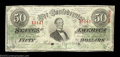 Confederate Notes:1863 Issues, T57 $50 1863. This nice mid-grade Fifty is nicely centered ...