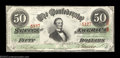 Confederate Notes:1863 Issues, T57 $50 1863 Pair. A gorgeous pair of colorful examples of ... (2notes)
