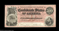 Confederate Notes:1864 Issues, T64 $500 1864. A well centered example of the late serial ...