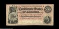 Confederate Notes:1864 Issues, T64 $500 1864. This early serial numbered note has a red ...