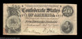 Confederate Notes:1864 Issues, T64 $500 1864. A nice circulated note with claims to a ...