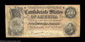 Confederate Notes:1864 Issues, T64 $500 1864. A Very Fine example of the high serial ...